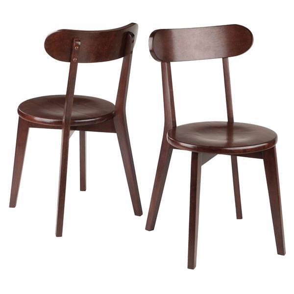 Chaises de cuisine Pauline noyer, 17,32 po,  ens. de 2