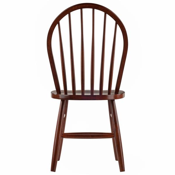 "Chaises Windsor 16.69"", noyer, ens. de 2"