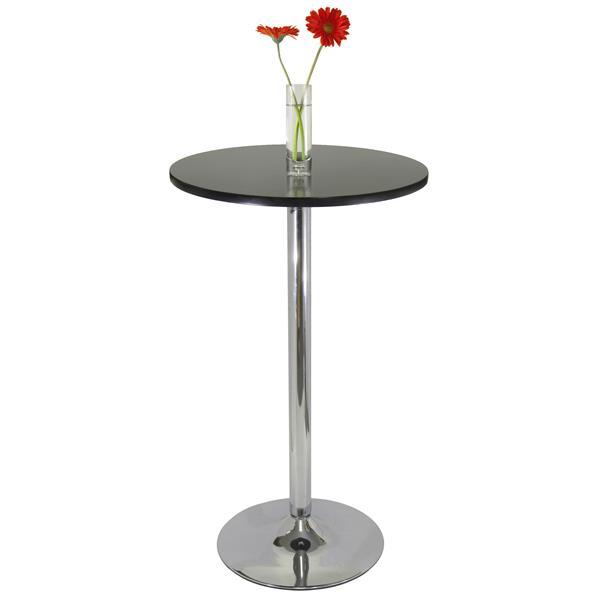 """Table bistro Spectrum, 23,62"""" x 39,76"""", composite, noir"""