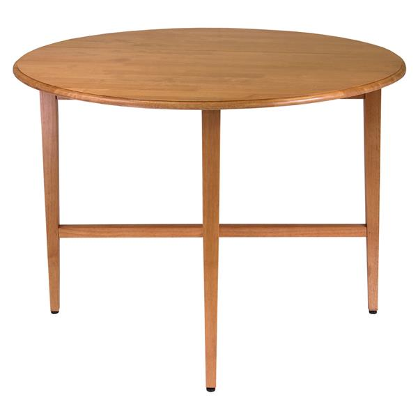 Winsome Wood Hannah 42-in x 29.5-in Wood Oak Round Drop Leaf Dining Table