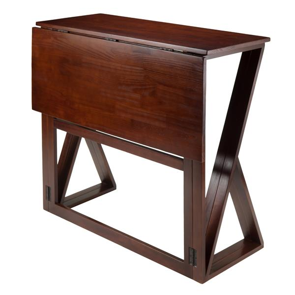 Winsome Wood Harrington 31.5-in x 36.22-in Wood Walnut Drop Leaf Counter Height Table