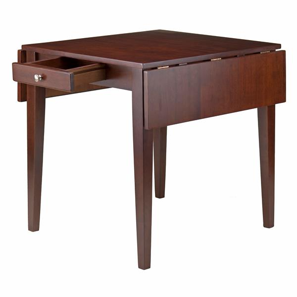 Winsome Wood Hamilton 30.55-in x 29.13-in Wood Walnut Double Drop Leaf Dining Table