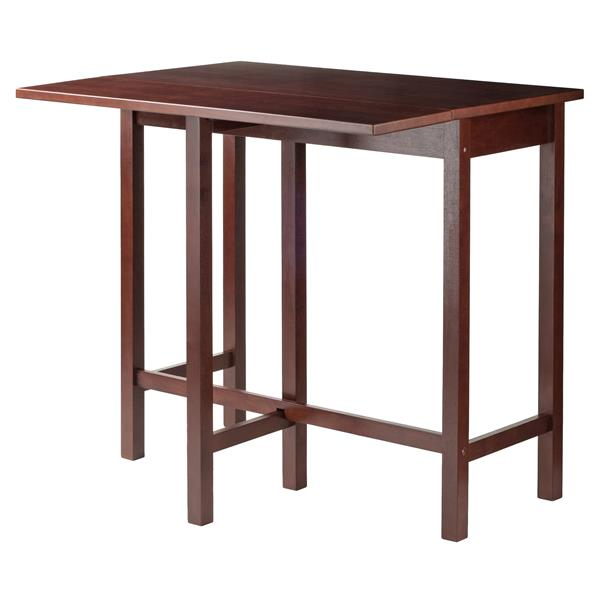 "Table à battant Lynnwood, 30"" x 35,43"", bois, noyer"