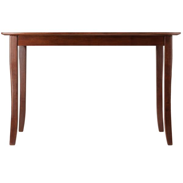 Winsome Wood Inglewood Dining Table 29.53in x 29.13 Wood Walnut