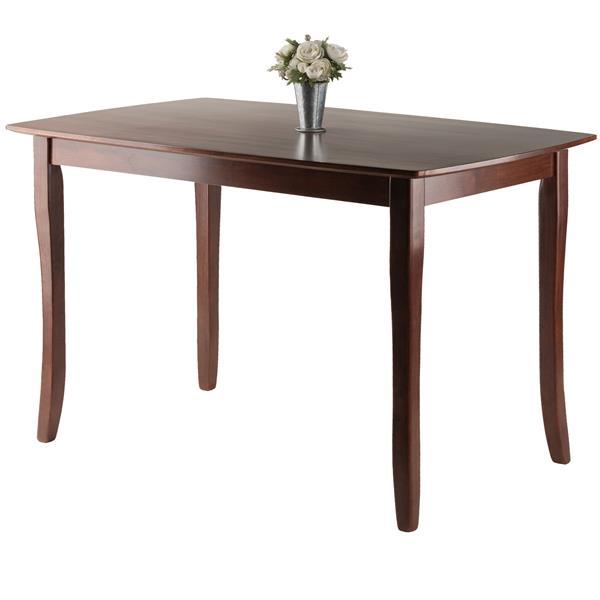 """Table à manger Inglewood, 29,53"""" x 29,13"""", bois, noyer"""
