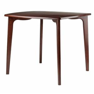Winsome Wood Pauline 34.02-in x 29.13-in Wood Walnut Dining Table