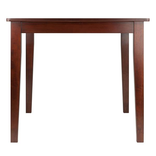 Winsome Wood Anna 32.48-in x 29.29-in Walnut Wood Dining Table