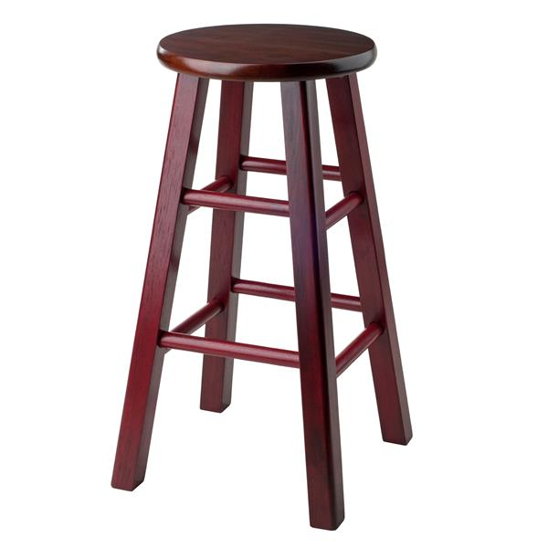Winsome Wood Ivy 13.4-in x 24.2-in Wood Walnut Counter Stool