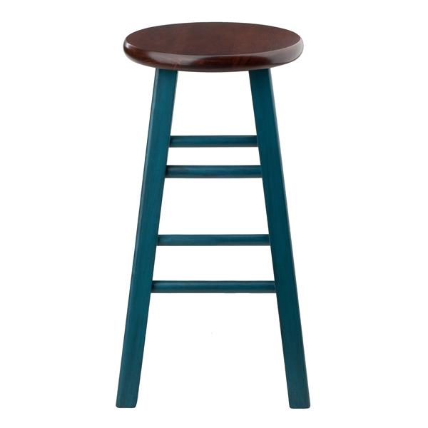 Winsome Wood Ivy 13.4-in x 24.2-in Blue Wood Counter Stool