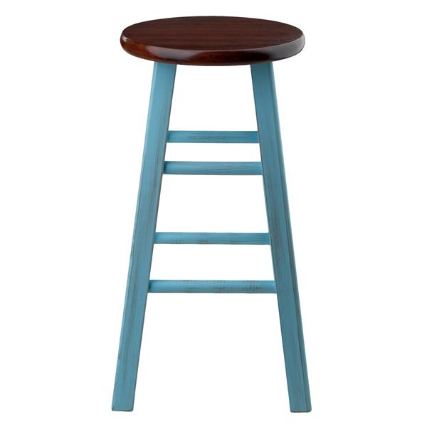 Winsome Wood Ivy Counter Stool - 13.4-in x 24.2-in - Wood - Green