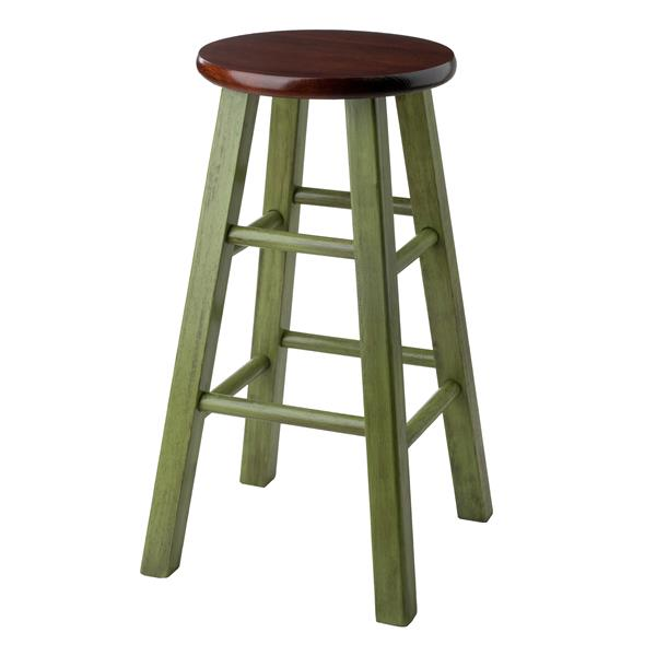 Winsome Wood Ivy 13.4-in x 24.2-in Green Wood Counter Stool