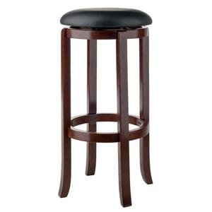 Winsome Wood Walcott Bar Stool 16.97-in x 30.24-in Walnut