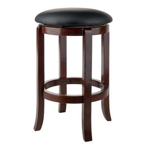 Winsome Wood Walcott Walnut Bar Stool 16.97-in x 24.21-in