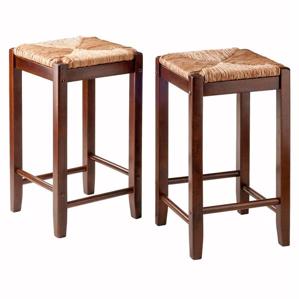 Winsome Wood Kaden 13.92-in x 24.02-in Wood Counter Stools (Set of 2)