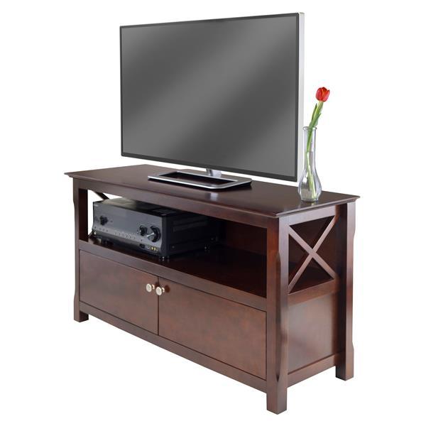 """Support de télé Xola, jusqu'à 50"""", vernis à bois, cappuccino"""