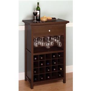 """Meuble à vin Chablis, 26,6"""" x 40,4"""", bois, brun"""