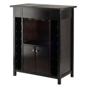Yukon Wine Cabinet - 30-in x 37.01-in - Wood - Brown