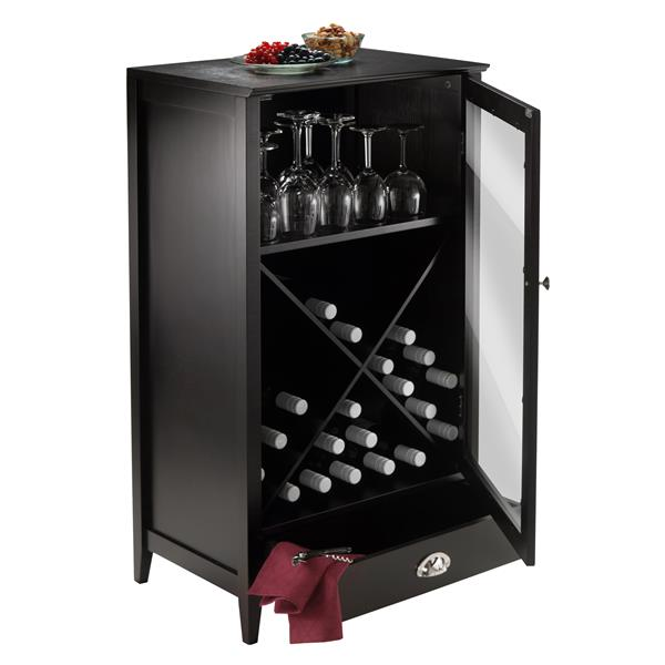 Winsome Wood Bordeaux Wine Cabinet - 22.64-in x 40-in - Wood - Brown