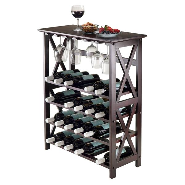 Winsome Wood Rio Wine Rack  - 28.74-in x 35.71-in - Wood - Brown