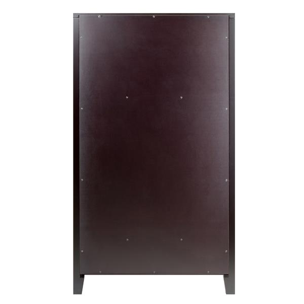 Winsome Wood Bordeaux Wine Cabinet - 22.64-in x 40-in - Composite - Brown