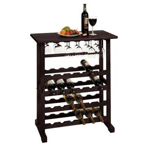 Winsome Wood Vinny Wine Rack  - 31.5-in x 35.67-in - Wood - Brown