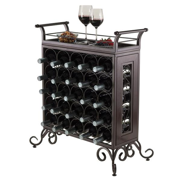 Winsome Wood Silvano Wine Rack  - 25.86-in x 30.16-in - Metal - Bronze