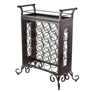 Winsome Wood Silvano Wine Rack  - 25.86-in x 30.16-in - Metal - Bronze