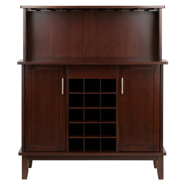 Winsome Wood Beynac Wine Bar - 38.35-in x 44.57-in - Wood - Brown