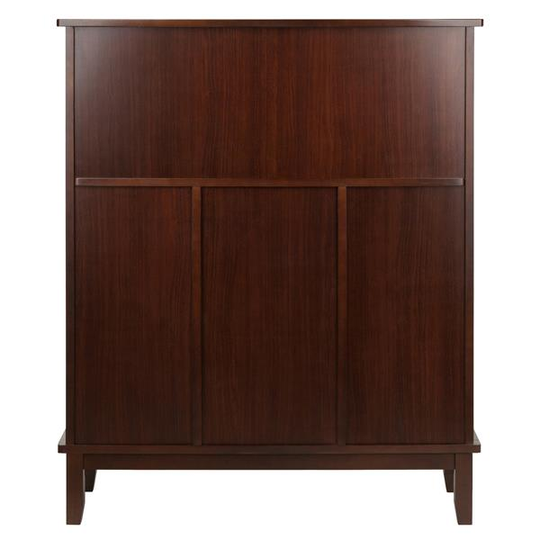 Winsome Wood Beynac Wine Bar - 38.35-in x 44.57-in - Wood - Brown