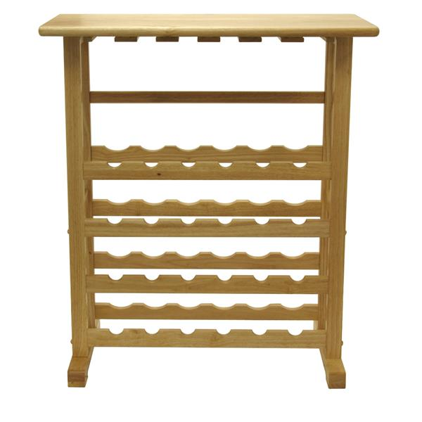 Winsome Wood Vinny Wine Rack - 31.5-in x 35.67-in - Wood - Clear