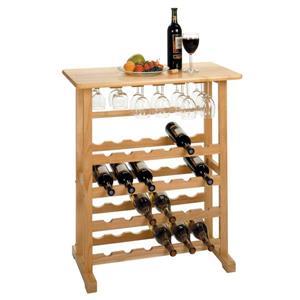 """Grille à vin Vinny, 31,5"""" x 35,67"""", bois, clair"""