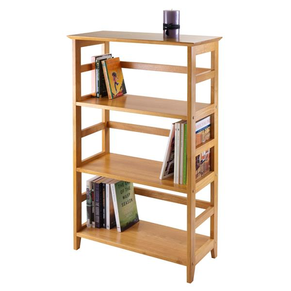 Winsome Wood Studio Bookshelf 26 x 42-in Honey