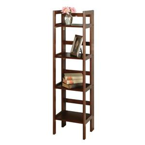 Winsome Wood Terry 14 x 51.34-in Folding Bookcase Walnut