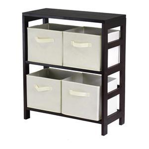 Winsome Wood Capri 25.2-in x 29.21-in Espresso Storage Shelf
