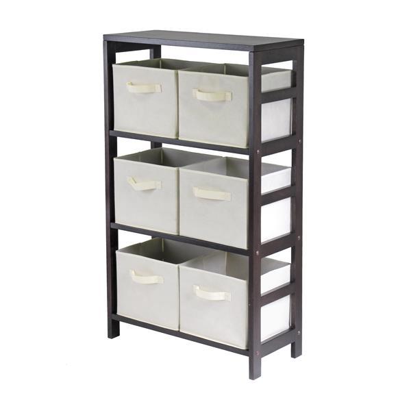 Winsome Wood Capri 25.2-in x 42-in x 11.20-in 7 Pieces Beige Storage Shelf