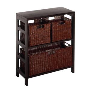 Leo 29.21-in x 25.20-in x 11.22-in Dark Espresso 4 Pieces Storage Shelf