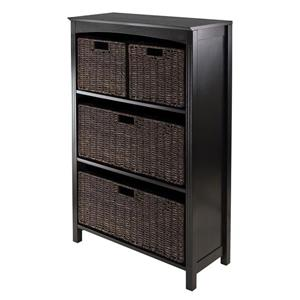 Winsome Wood Terrace 25.98 x 43-in 5 Piece Storage Shelf Dark Espresso
