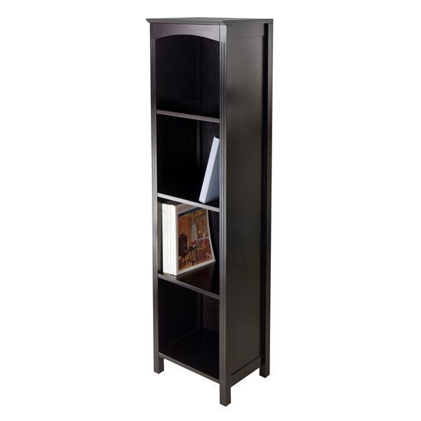 Winsome Wood Terrace 14.49 x 56-in Storage Shelf Dark Espresso