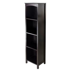 Winsome Wood Terrace 14.49 x 56-in Storage Shelf Dark Espresso