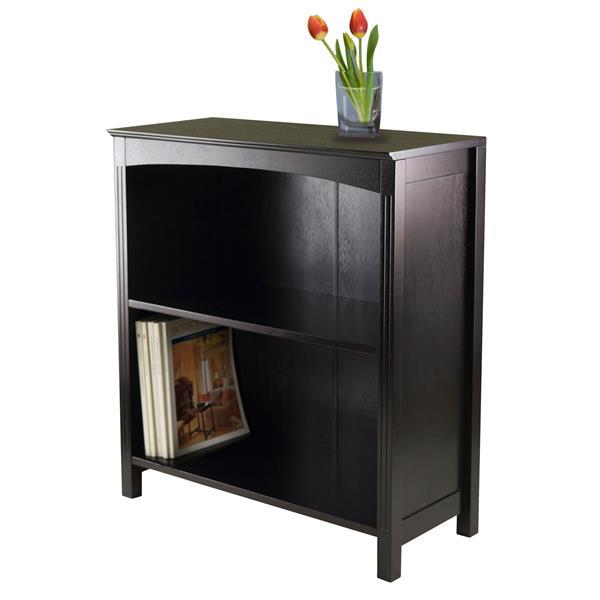 Winsome Wood Terrace 23 x 30-in Storage Shelf Dark Espresso
