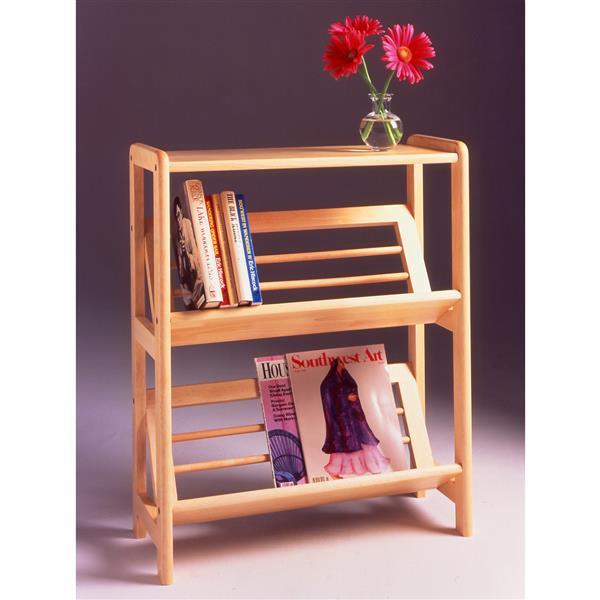 Winsome Wood Juliet 30.10-in x 24.00-in x 10-in Natural Bookshelf