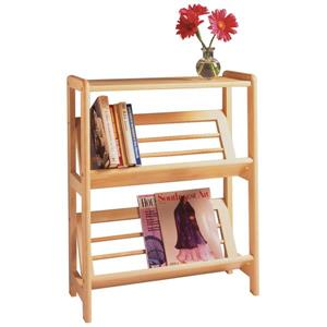 Juliet 30.10-in x 24.00-in x 10-in Natural Bookshelf