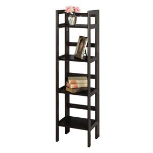 Winsome Wood Terry 14 x 51.34-in Folding Bookcase Black