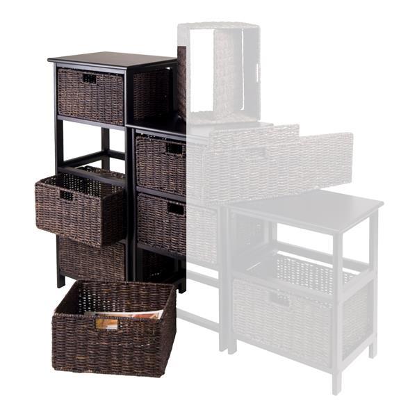Winsome Wood Omaha Storage Rack 16.73  x 36.81-in Black Chocolate