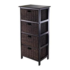 Winsome Wood Omaha Storage Rack 16.73  x 36.81-in Black Chocolate
