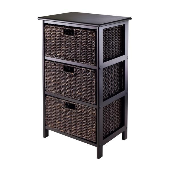 Winsome Wood Omaha Storage Rack 16.73  x 28.54-in Black Chocolate