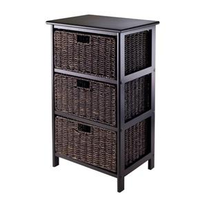 Winsome Wood Omaha Storage Rack 16.73  x 28.54-in Black Chocolate