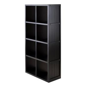 Winsome Wood Timothy 25.63 x 53.11-in Storage Shelf Black