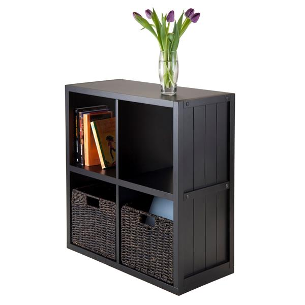 Winsome Wood Timothy Panel Shelf - 25.63-in x 27.05-in - Black