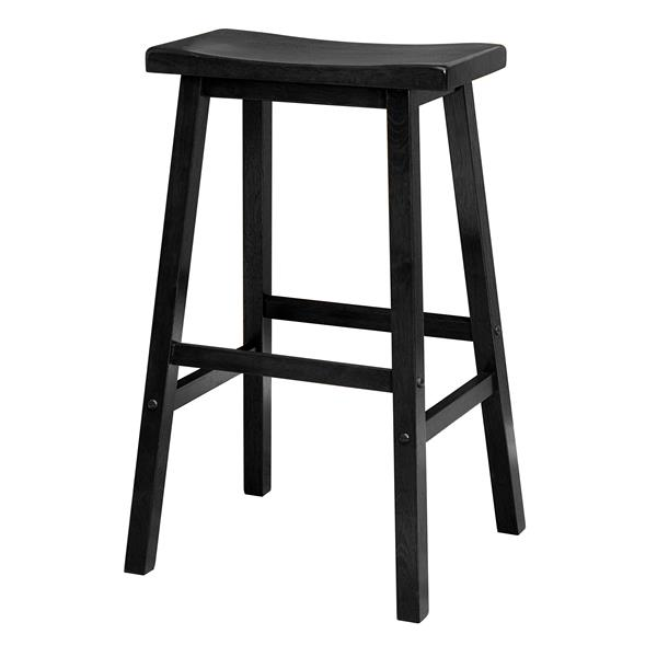 Remarkable Winsome Wood Satori Black Wood 17 91 In X 28 86 In Bar Stool Pabps2019 Chair Design Images Pabps2019Com